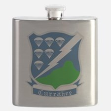 Army-506th-Infantry-WWII-Currahee-Patch Flask