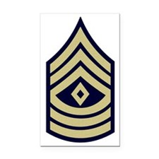 Army-1Sgt-WWII-Olive-Fancy Rectangle Car Magnet