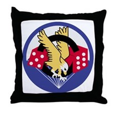 Army-506th-Infantry-Para-Dice-Patch-P Throw Pillow