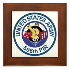 Army-506th-Infantry-Para-Dice-Roundel Framed Tile