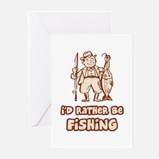 I'd Rather Be Fishing Greeting Cards (Pk of 10)