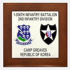 Army-506th-Infantry-Korea-Shirt Framed Tile
