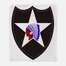 Army-2nd-Infantry-Shoulder-Patch Throw Blanket