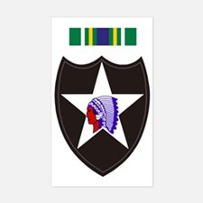 Army-2nd-Infantry-With-Korean- Sticker (Rectangle)
