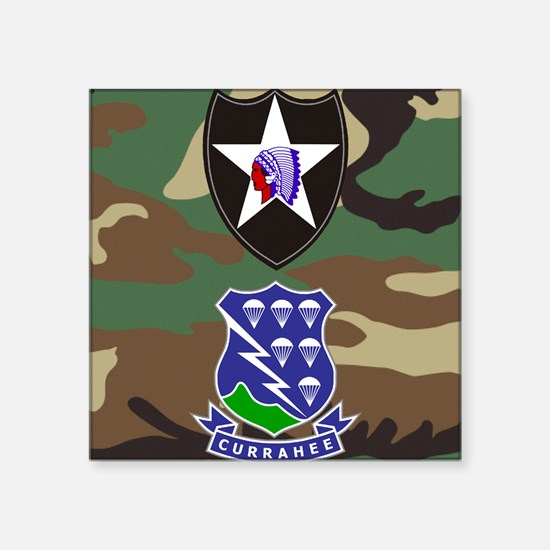 """Army-506th-Infantry-2nd-Inf Square Sticker 3"""" x 3"""""""