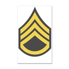 Army-SSG-Gold-Green-Fancy Rectangle Car Magnet