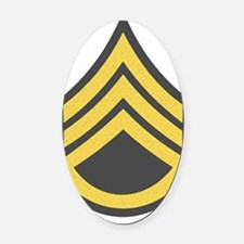 Army-SSG-Gold-Green-Fancy Oval Car Magnet
