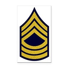 Army-MSG-Gold-Fancy-On-Blue Rectangle Car Magnet