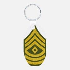 2-Army-1SG-Gold-Green-Fancy Keychains