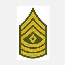 2-Army-1SG-Gold-Green-Fancy Sticker (Rectangle)