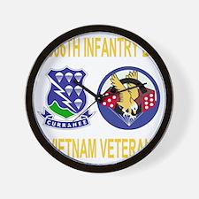 2-Army-506th-Infantry-1-506th-Vietnam-V Wall Clock