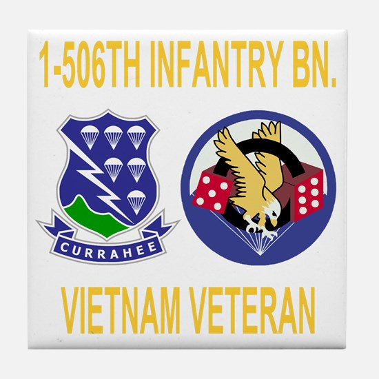 2-Army-506th-Infantry-1-506th-Vietnam Tile Coaster