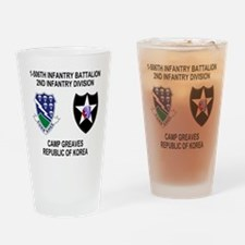 2-Army-506th-Infantry-Korea-Shirt Drinking Glass