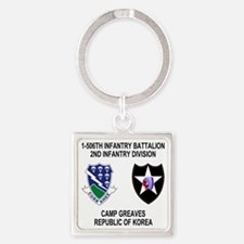 2-Army-506th-Infantry-Korea-Shirt Square Keychain