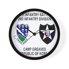 2-Army-506th-Infantry-Korea-Shirt Wall Clock
