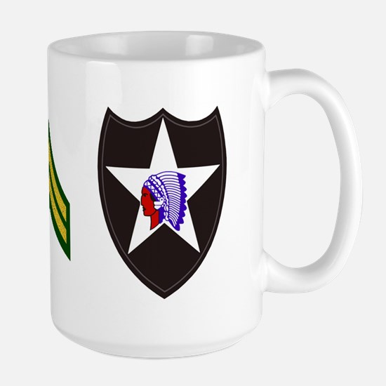 2-Army-506th-Infantry-2nd-Infantry-Div- Large Mug