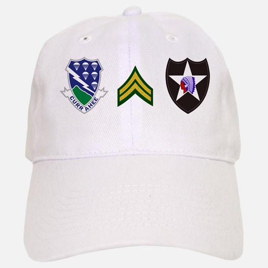 2-Army-506th-Infantry-2nd-Infantry-Div-CPL-Mu Baseball Baseball Cap