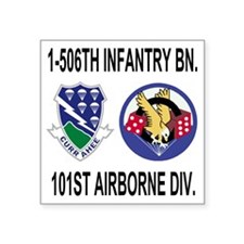 "2-Army-506th-Infantry-1-506 Square Sticker 3"" x 3"""