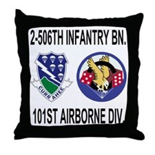 2-Army-506th-Infantry-2-506th-101st-A Throw Pillow