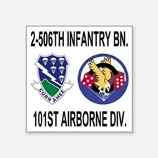 "2-Army-506th-Infantry-2-506 Square Sticker 3"" x 3"""
