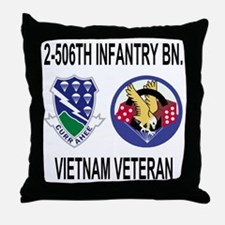 4-Army-506th-Infantry-2-506th-Vietnam Throw Pillow