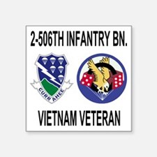 """4-Army-506th-Infantry-2-506 Square Sticker 3"""" x 3"""""""