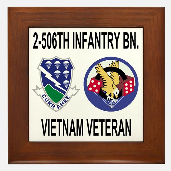 4-Army-506th-Infantry-2-506th-Vietnam- Framed Tile