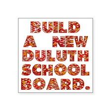 """ISD709-Build-New-School-Boa Square Sticker 3"""" x 3"""""""