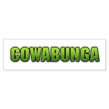 """""""Cowabunga"""" Bumper Bumper Sticker"""