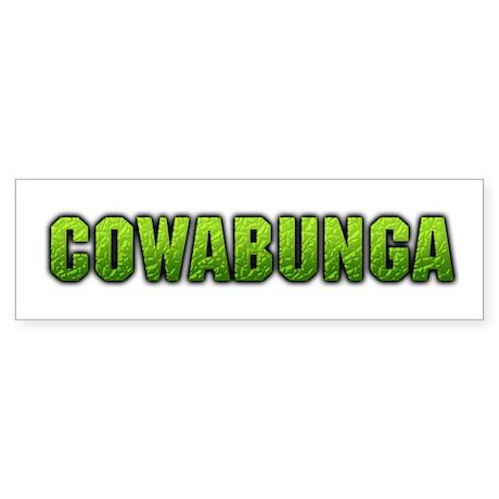 """""""Cowabunga"""" Bumper Sticker"""