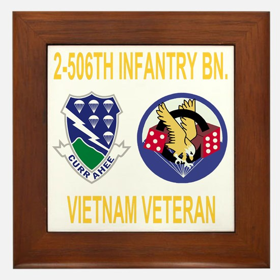 Army-506th-Infantry-2-506th-Vietnam-Ve Framed Tile