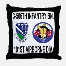 2-Army-506th-Infantry-3-506th-101st-A Throw Pillow