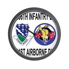 2-Army-506th-Infantry-3-506th-101st-Air Wall Clock
