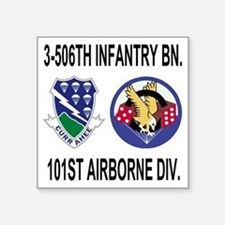 "2-Army-506th-Infantry-3-506 Square Sticker 3"" x 3"""