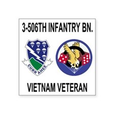 """4-Army-506th-Infantry-3-506 Square Sticker 3"""" x 3"""""""