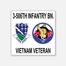 "4-Army-506th-Infantry-3-506 Square Sticker 3"" x 3"""