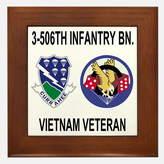 4-Army-506th-Infantry-3-506th-Vietnam- Framed Tile