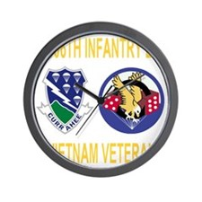 4-Army-506th-Infantry-1-506th-Vietnam-V Wall Clock
