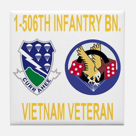 4-Army-506th-Infantry-1-506th-Vietnam Tile Coaster