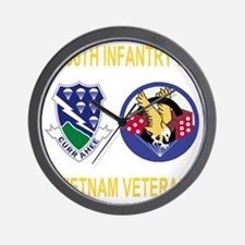3-Army-506th-Infantry-3-506th-Vietnam-V Wall Clock