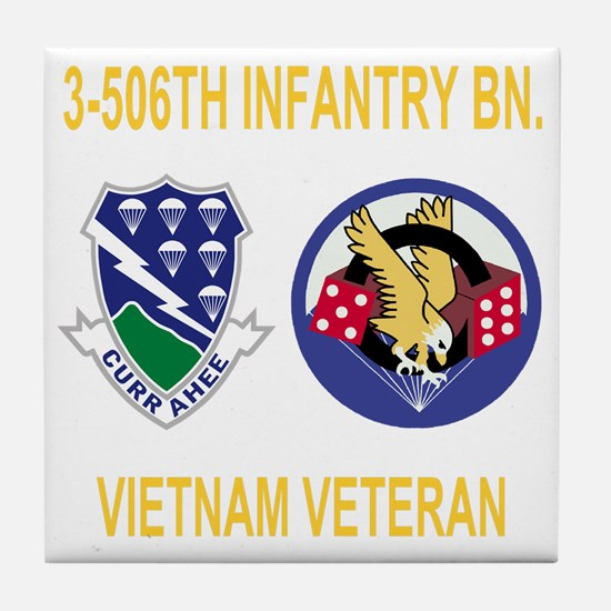 3-Army-506th-Infantry-3-506th-Vietnam Tile Coaster