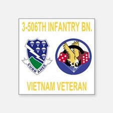 """3-Army-506th-Infantry-3-506 Square Sticker 3"""" x 3"""""""