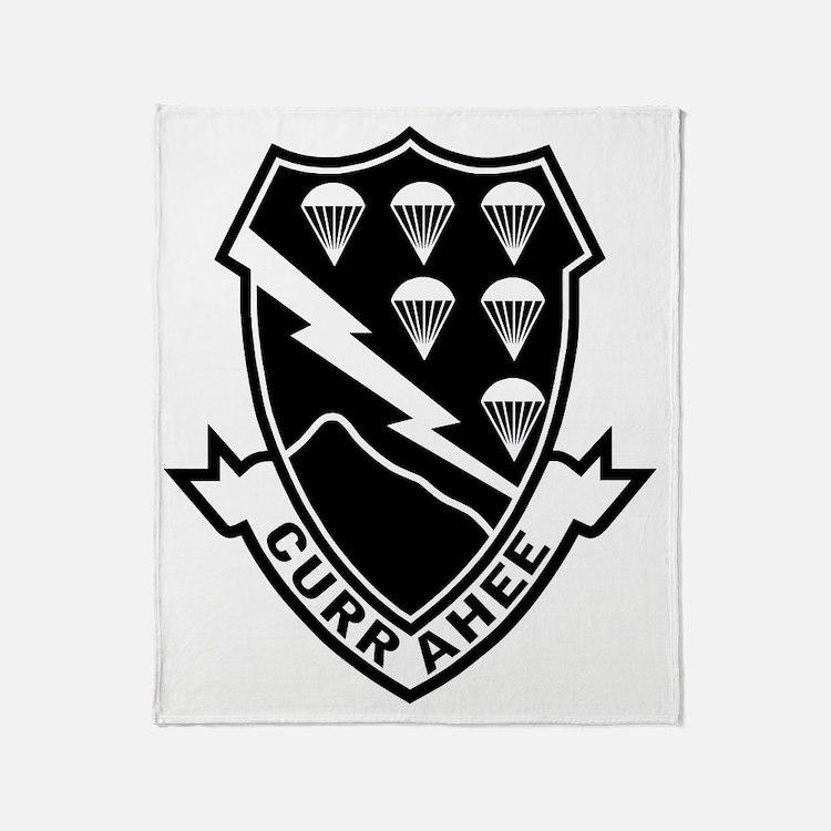 Army-506th-Infantry-Currahee-Black-W Throw Blanket