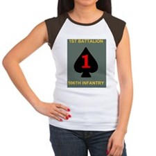 Army-506th-Infantry-1st Women's Cap Sleeve T-Shirt