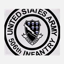 Army-506th-Infantry-Roundel-Black-Wh Throw Blanket
