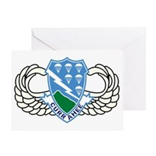 Army-506th-Infantry-Regiment-Airborn Greeting Card