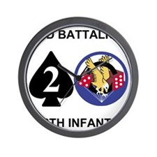 Army-506th-Infantry-2nd-Bn-Shirt-Back Wall Clock