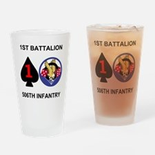 2-Army-506th-Infantry-1st-Bn-Shirt- Drinking Glass