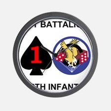 2-Army-506th-Infantry-1st-Bn-Shirt-Back Wall Clock