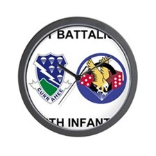 Army-506th-Infantry-BN1-Currahee-Paradi Wall Clock